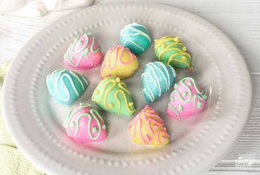 Chocolate Covered Strawberry Easter Eggs