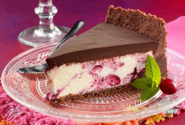Chocolate Cranberry Ice Cream Pie