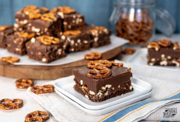 Chocolate Fudge Pretzel Brownies