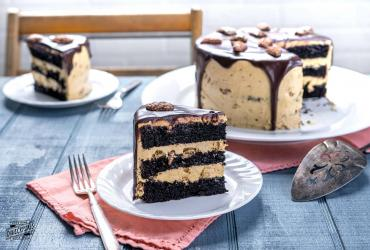 Chocolate Pecan Layer Cake