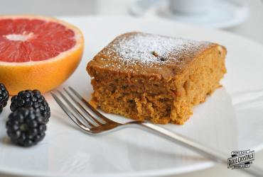 Cholesterol Free Carrot Breakfast Cake