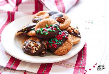 Cinnamon Crackle Cookies with Mexican Chocolate
