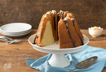 Coconut Milk Pound Cake with Ganache