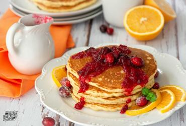 Cranberry Orange Pancakese