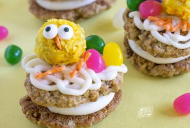 Easter Chick Carrot Cake Cookies