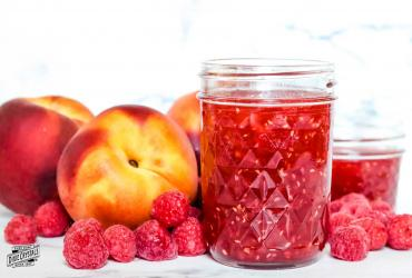 Easy Raspberry Peach Jam