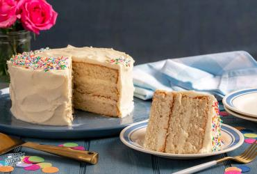 Frosted Classic White Cake Dixie