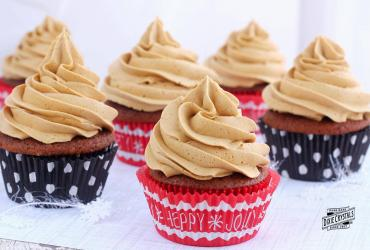 Gingerbread Cupcakes with Gingerbread Butter Cream Frosting