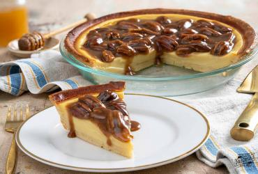 Honey Buttermilk Pie with Cinnamon Praline