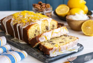 Lemon Coconut Pecan Pound Cake