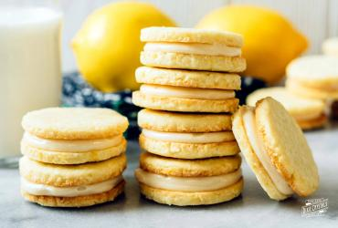 Lemon Coconut Sandwich Cookies