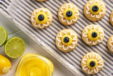 Lemon Lime Shortbread Thumbprint Cookies
