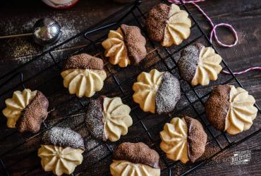 Malted Shortbread Chocolate Dipped Cookies