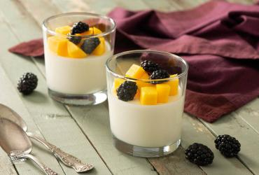 Mango and Blackberry Panna Cotta