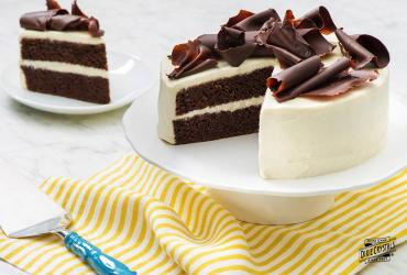 Mexican Chocolate Cake with Mascarpone Cream