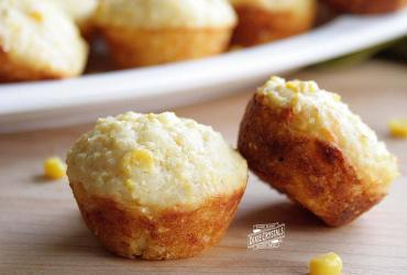 Mini Cheddar Bacon Corn Muffins