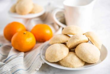 Orange Whipped Shortbreads