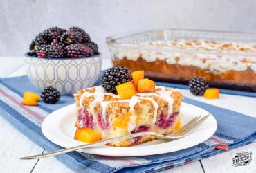 Peach Blackberry Coffee Cake