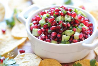 Pomegranate Cucumber Salsa