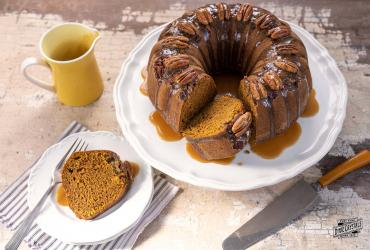 Pumpkin Praline Upside Down Cake