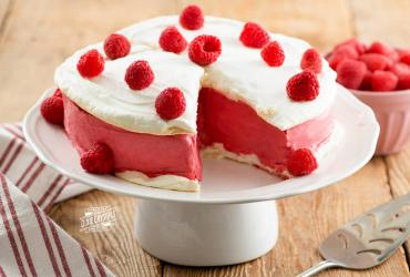 Raspberry Ice Cream Cake