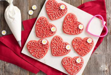 Red Velvet Heart Cookies