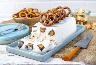 Reese's® Pretzel Ice Cream Log