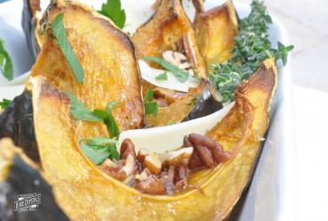 Roasted Acorn Squash with Orange-Thyme Glaze