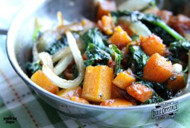 Sautéed Butternut Squash and Spinach