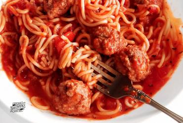 Spaghetti and Meatballs with Homemade Sauce