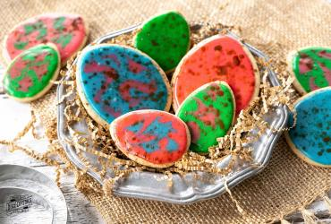 Speckled Easter Egg Cookies