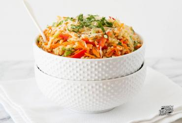 Spicy Orzo Carrot Salad