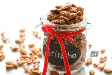 Sriracha Cinnamon Sugar Candied Nuts