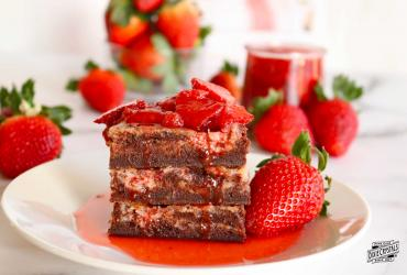 Strawberry Cream Cheese Brownies