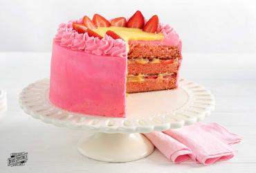 Strawberry Lemonade Layer Cake Dixie