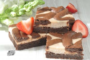 Strawberry Red Wine Cream Cheese Brownies