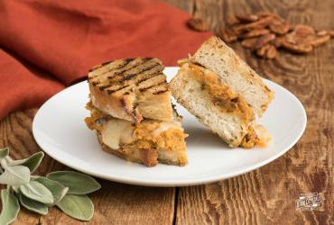 Sweet Potato & Pecan Paninis with Smoked Gouda