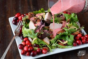 Turkey Salad with Cranberry Vinaigrette