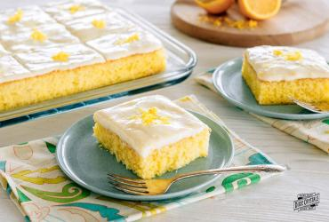 Very Lemon Sheet Cake with Silky Sour Cream Frosting