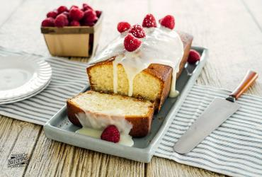 White Chocolate Glazed Pound Cake
