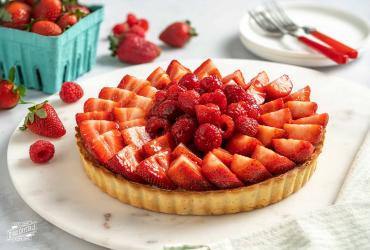 White Chocolate Strawberry Tart Dixie