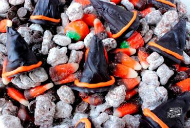 Witch Hat Puppy Chow Snack