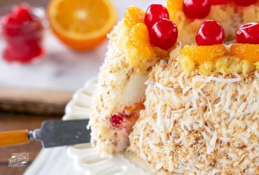 Ambrosia Angel Food Cake