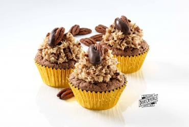 Classic German Chocolate Cupcakes