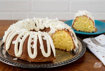 Coconut Cream Cake with Cream Cheese Icing
