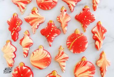 Double Marbled Ornament Cookies