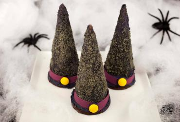 Halloween Sugar Cone Witch Hats