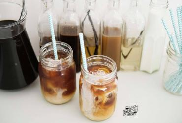 Iced Coffee & Syrup Bar