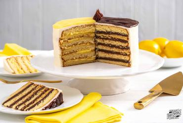 Lemon and Chocolate Doberge Cake