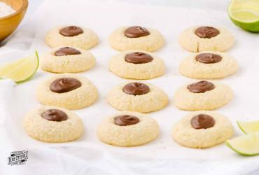 Lime Coconut Chocolate Thumbprints